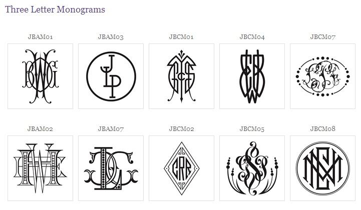 9 3 Letter Monogram Designs Images   Three Letter Monogram, 3
