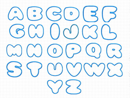 How to write bubble letters