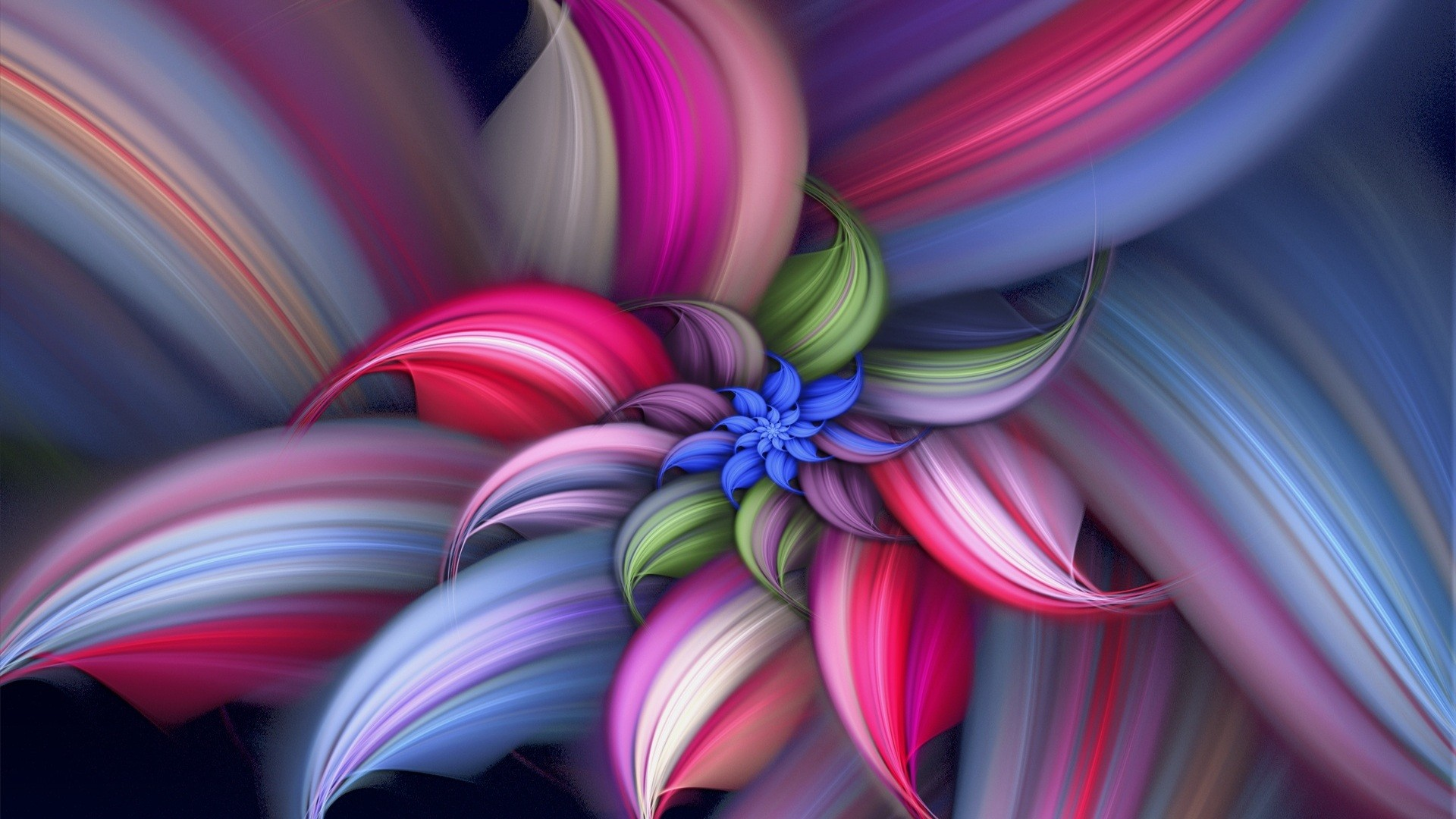 16 Abstract Flower Vector Images