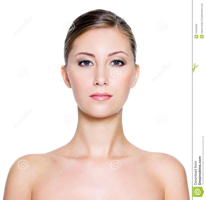 Beautiful Woman Face Neck