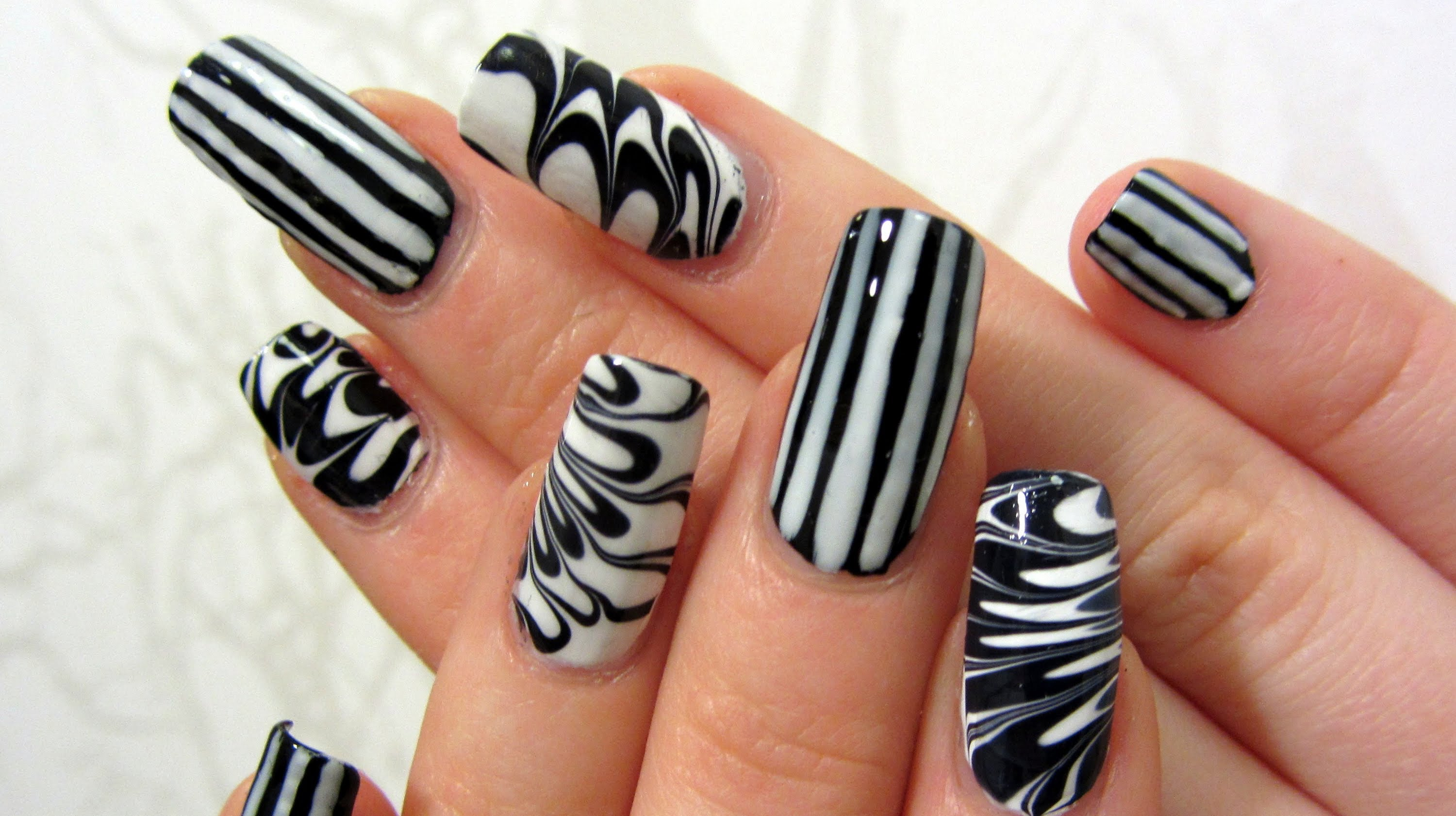 Black and White Nail Art Ideas