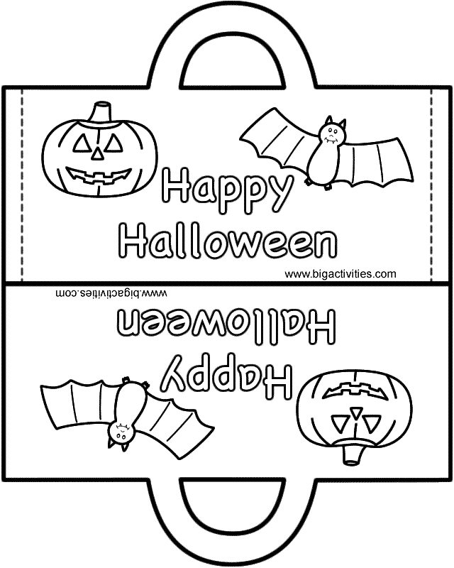 Black and White Printable Halloween Crafts