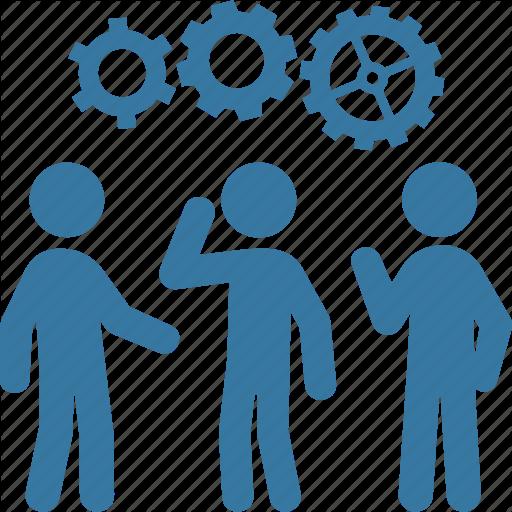 Black and White Teamwork Icon