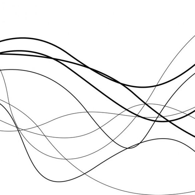 Line Drawing Vector Graphics : Wavy lines vector images