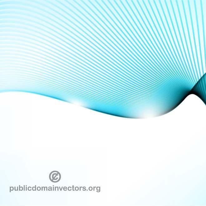 Blue Wavy Lines Vector