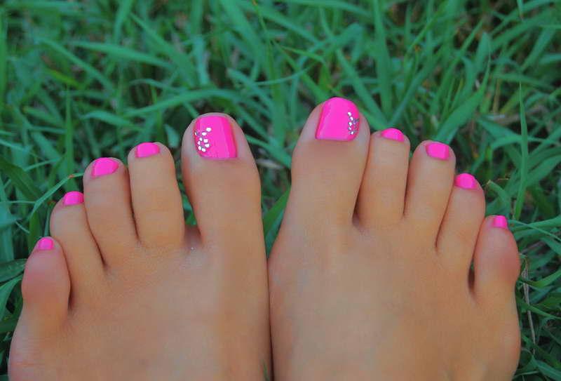 Bright Color Pedicure Nail Designs