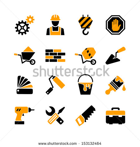 Building Construction Tools Icons