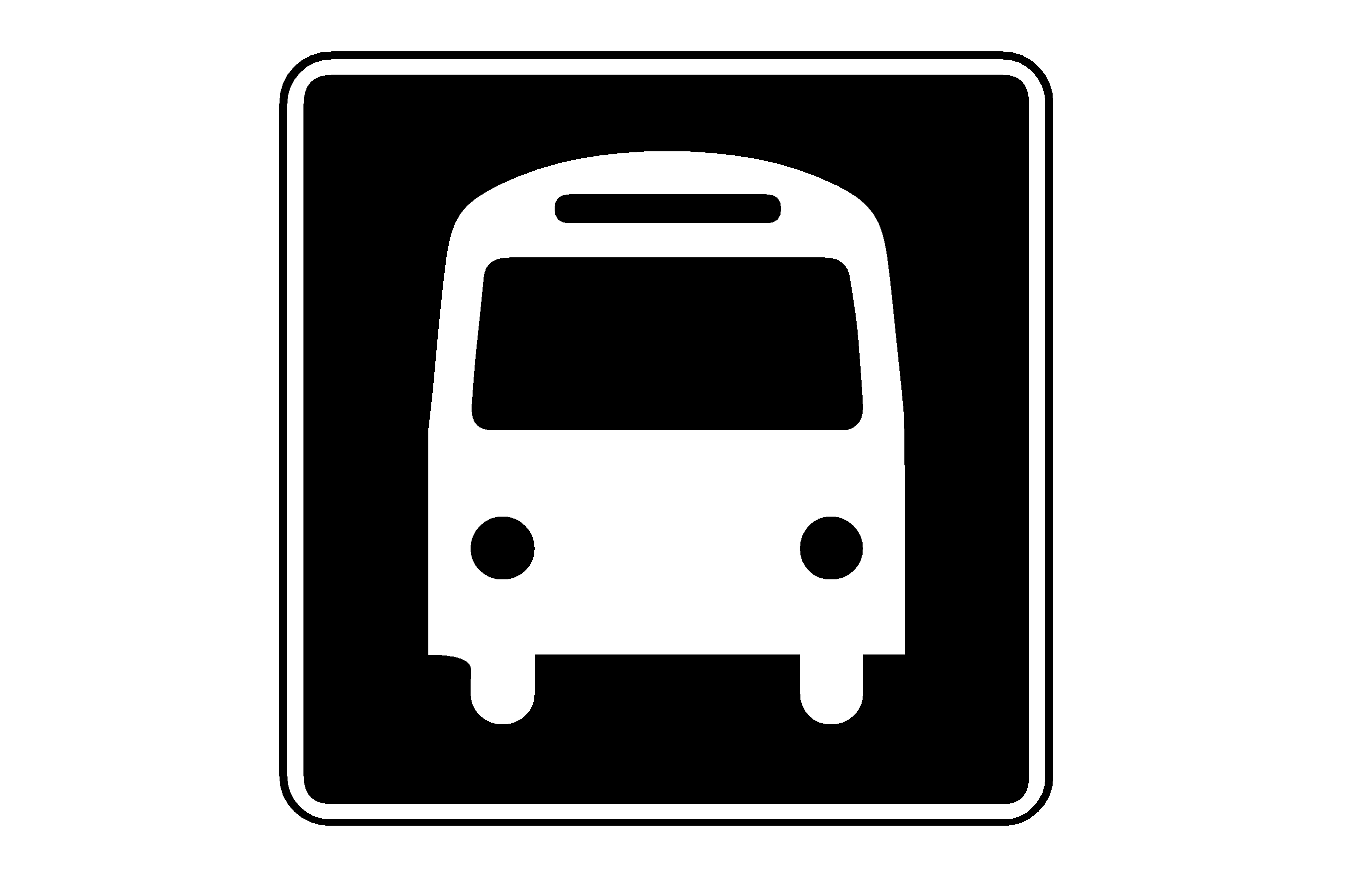 12 Black Bus Icon Free Images