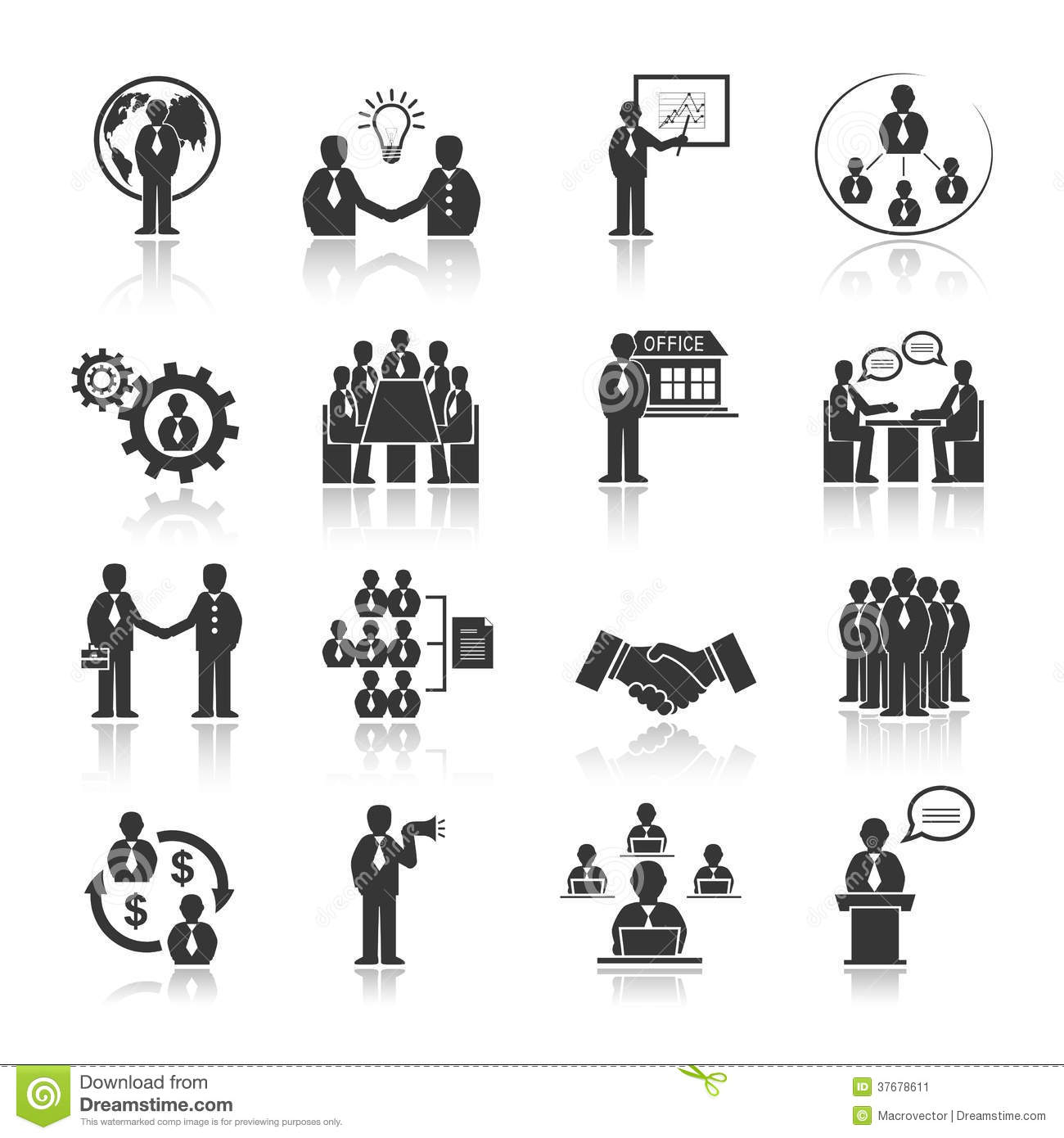 Business Meeting Vector Icons