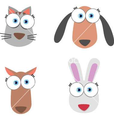 Cartoon Animal Eyes