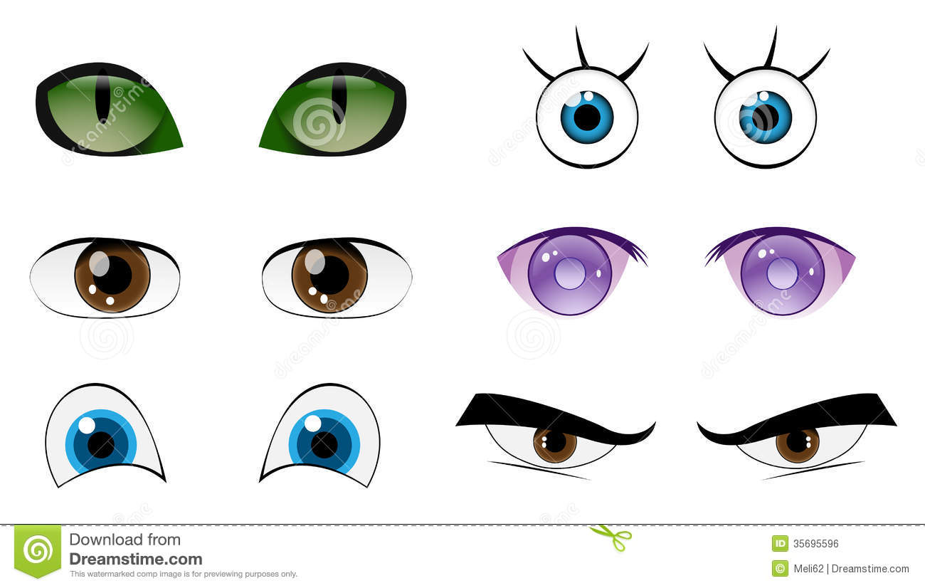 Cartoon Characters Eyes : Vector animal eye images cartoon animals with big