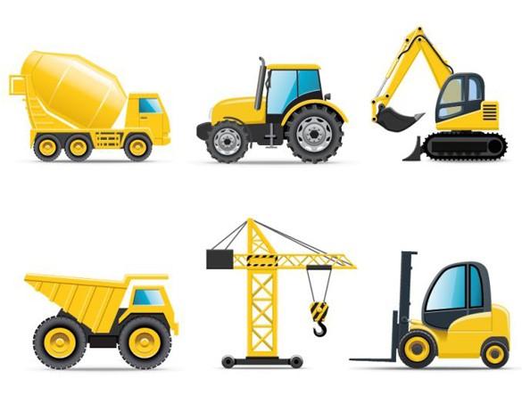 Cartoon Construction Trucks