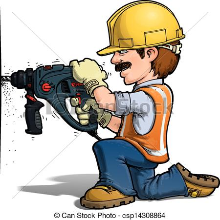 Cartoon Construction Worker Clip Art