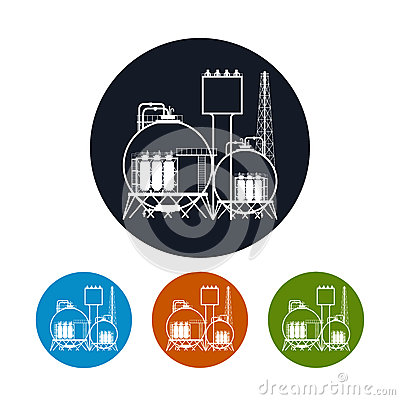Chemical Plant Processing Icons