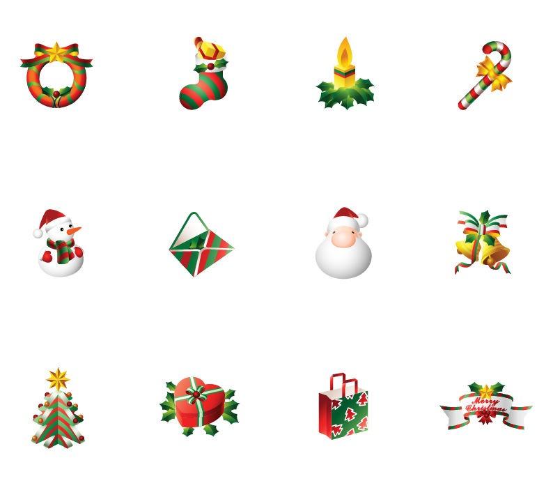 Christmas Icons Vector Art
