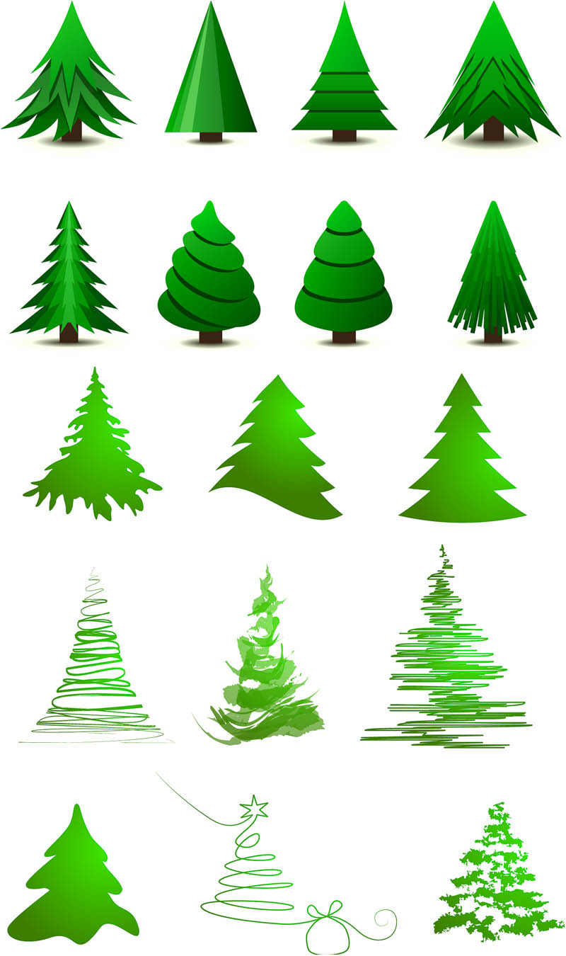 Christmas Tree Vector Art Free