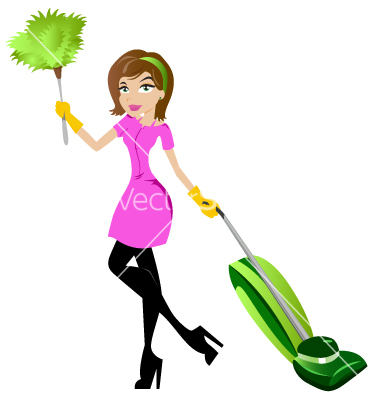 14 Woman Cleaning Vector Images