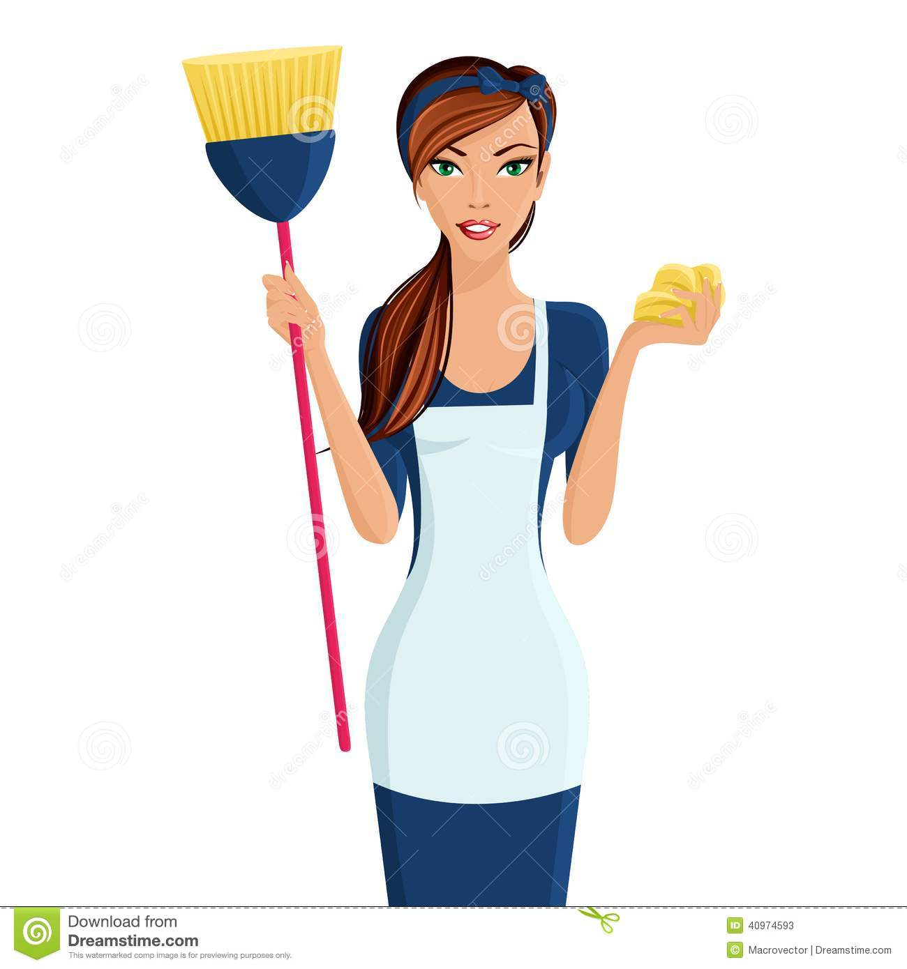 cleaning person icon