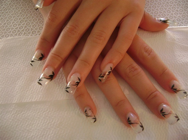 White clear nail design clear nail designs images nails with