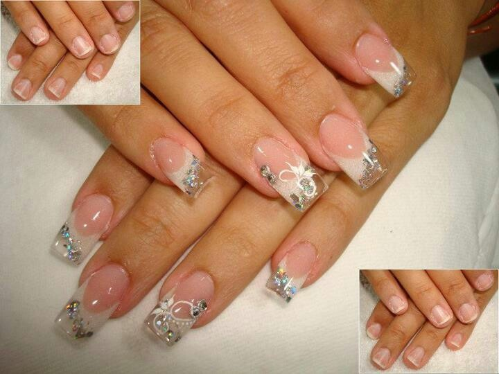 15 Clear Nail Designs Images Clear Nails With Designs Clear Nails