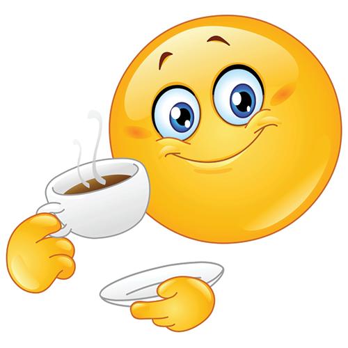 12 Coffee Smiley Emoticon Images