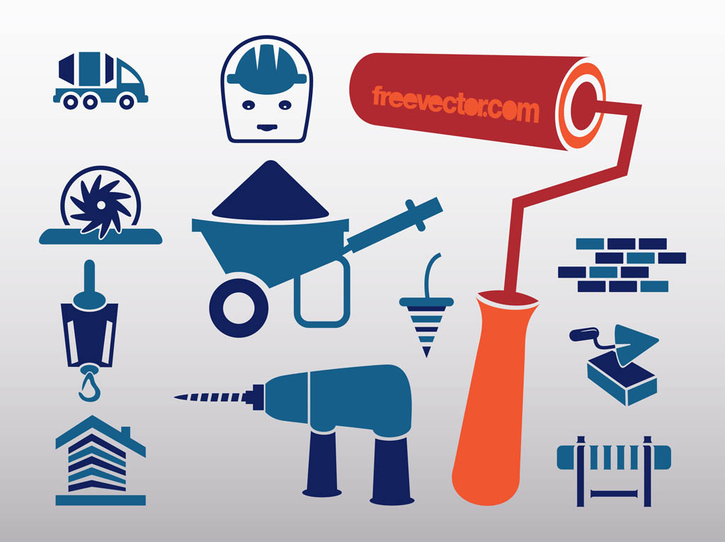 10 Cartoon Construction Icon Images