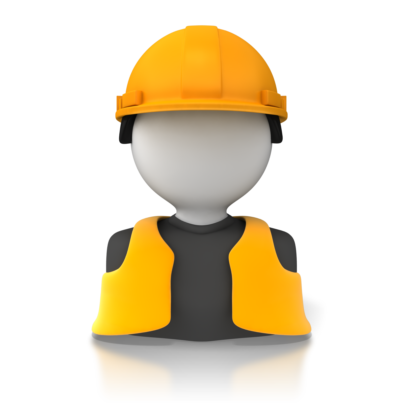 Construction Worker Icon Clip Art