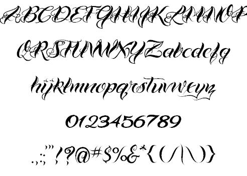 6 Cool Script Fonts Images