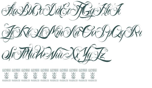 Tattoo Script Font Maker - Skin Arts
