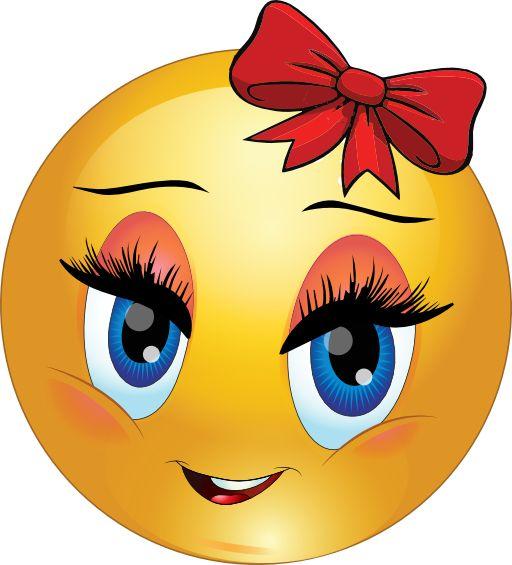Cute Girl Smiley Faces