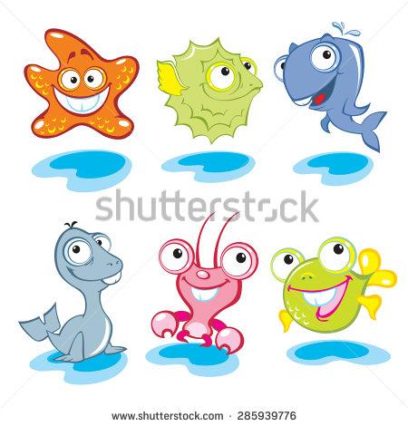 Cute Sea Animals with Big Eyes