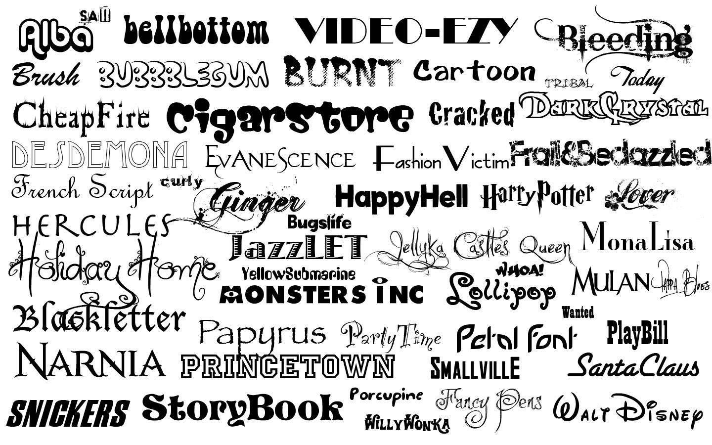 10 Best Font Types Images
