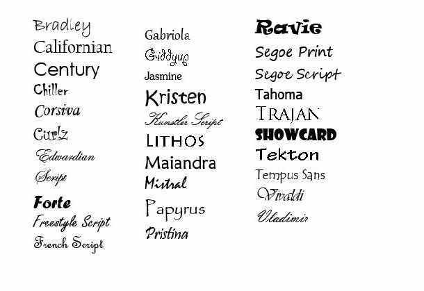 10 Best Font Types Images Different Fonts 50 Fonts