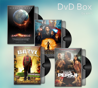 DVD Box PSD Template
