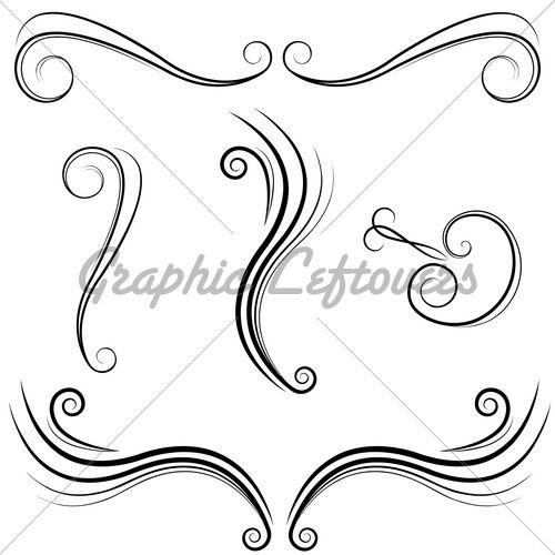 Simple Elegant Line Art : Elegant swirl designs vector images