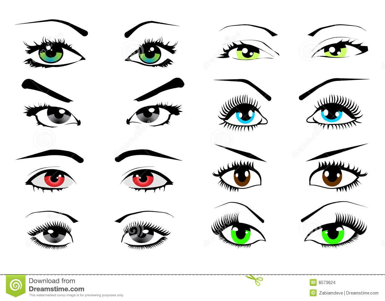 Eyes Woman Illustration