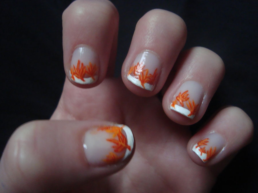 13 Fall Nail Designs Images - Fall Nail Design, Fall Gel Nail Art ...