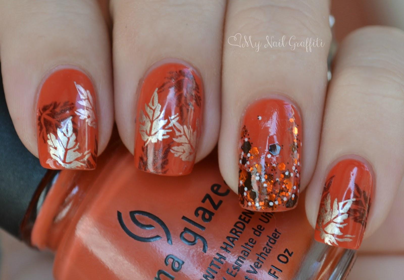 13 Fall Nail Designs Images - Fall Nail Design, Fall Gel Nail Art ...