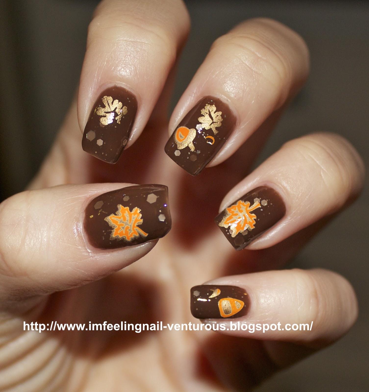 Elegant Fall Nail Design