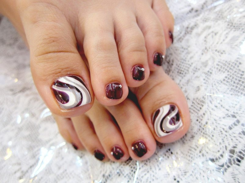 Fall Toe Nail Art Designs