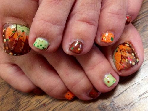 Fall Toe Nail Design - 15 Fall Toenail Designs Images - Fall Toe Nail Art Designs, Fall Toe
