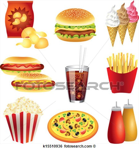 Fast Food Meal Clip Art