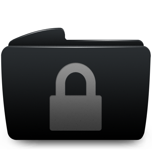 14 Folder Lock Black Icon Images