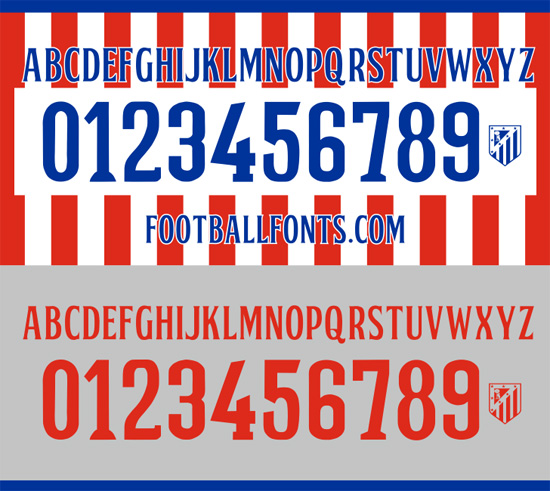 5 Atletico Madrid Jersey Font 14 15 Images