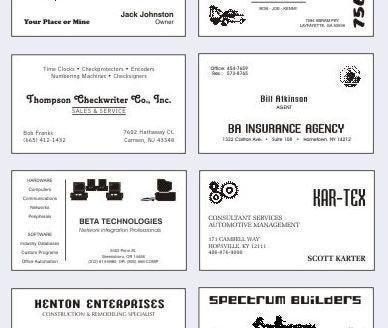 Free Business Card Templates Word