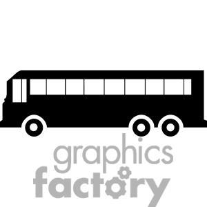 Free Clip Art Black White Party Bus