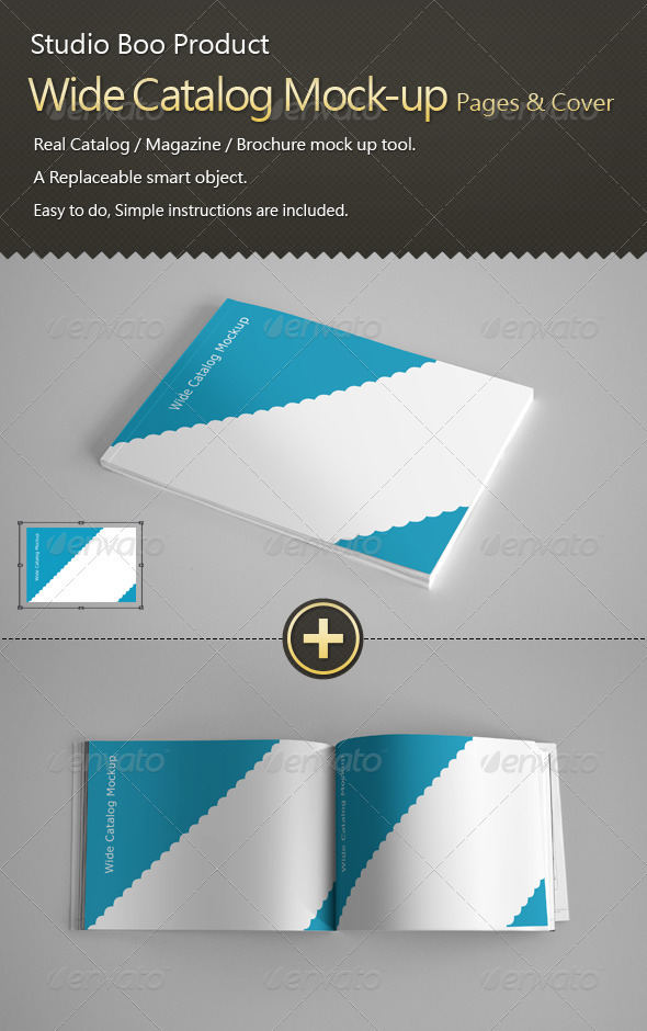 Free Mock Up Catalog Cover