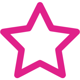 6 Pink Star Icon Images