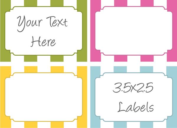 Free Printable Food Label Templates