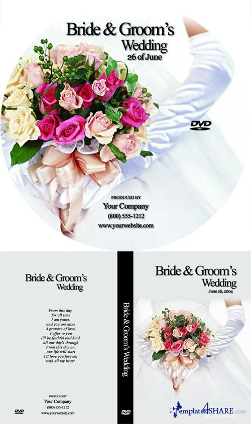 Free PSD Wedding DVD Template
